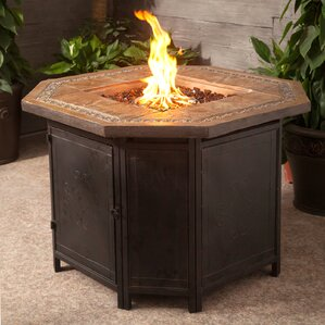Faux Stone Propane Fire Pit Table