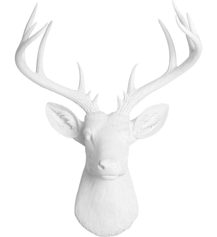Gracie Oaks Faux Deer Head Wall Décor & Reviews   Wayfair