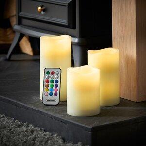 3 Piece Pillar Candle Set