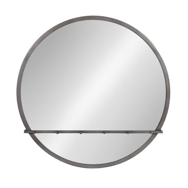 Modern & Contemporary Round Metal Framed Mirror   AllModern