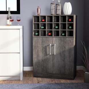 Buena Vista Mid Century Wine and Bar Cabinet