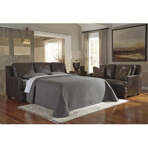 Almeda Leather  Sleeper by Darby Home Co