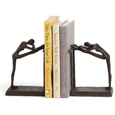 Darby Home Co Dorine Contemporary Stretch Metal Book Ends