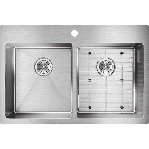Elkay Crosstown 33 Quot L X 22 Quot W Double Basin Undermount Drop