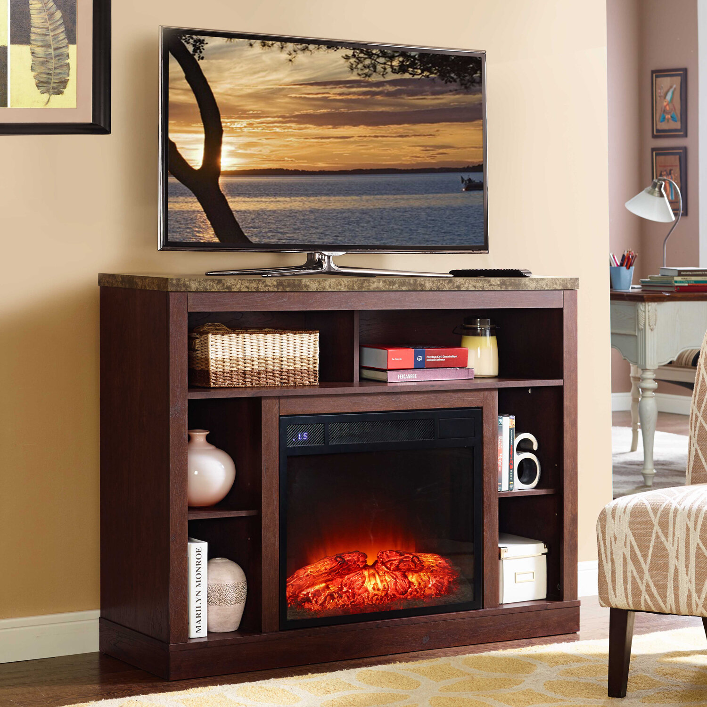 latitude run desiree 46 tv stand with fireplace wayfair