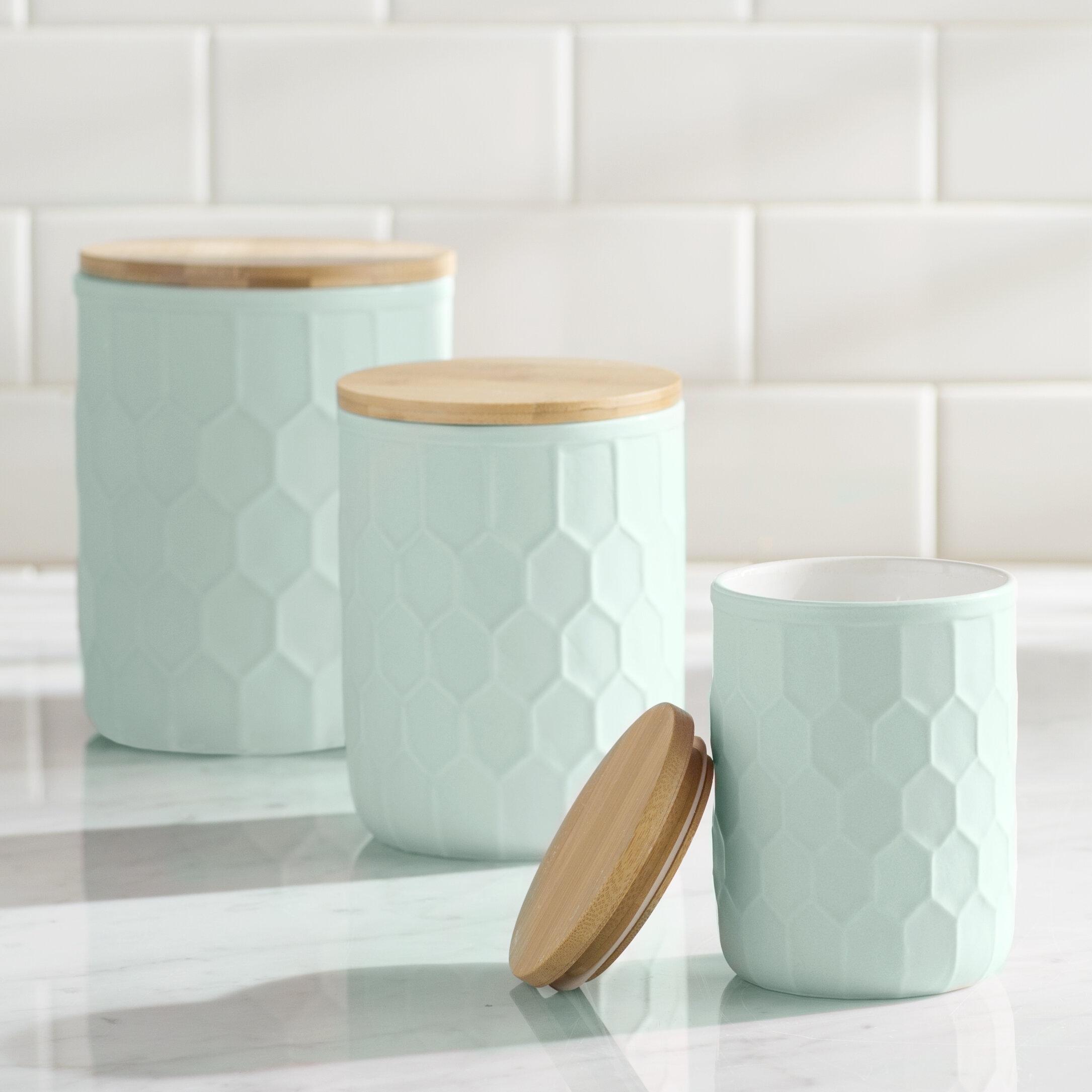 Mint Pantry Scandinavian 3 Piece Kitchen Canister Set   Wayfair