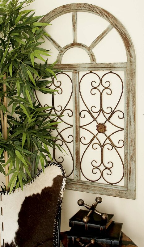 Superbe Wood And Metal Wall Decor