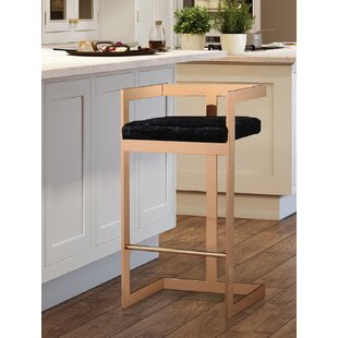 Sallie Velvet 26 Bar Stool