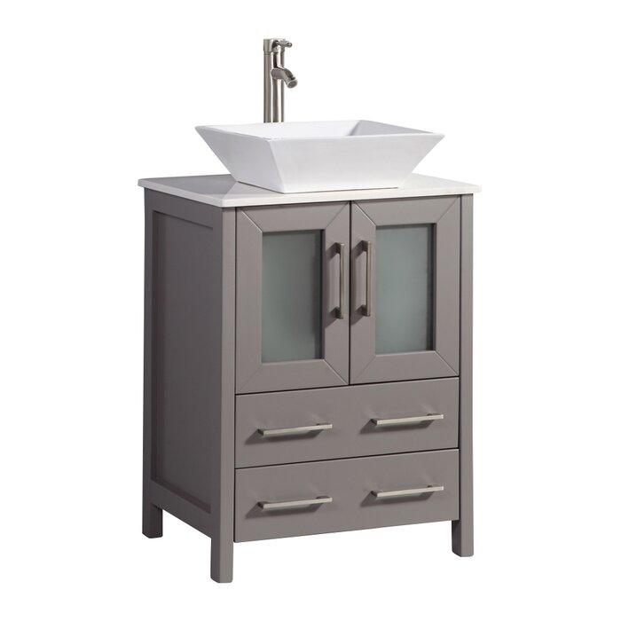 Knutsen 24 Single Bathroom Vanity Set With Mirror