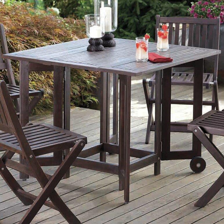Merry Products Eucalyptus Folding Table & Reviews | Wayfair