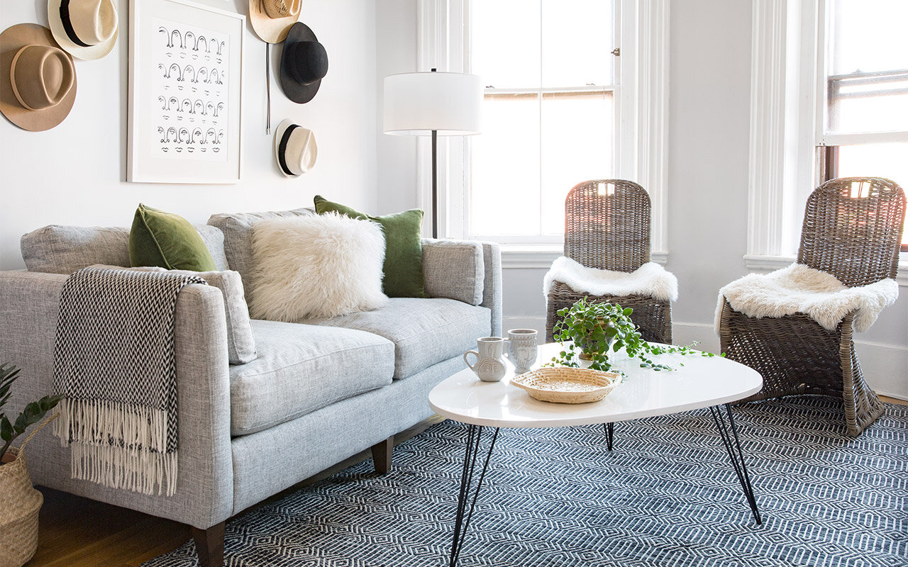Wayfair & Small-Space Makeover: A Bright Open Living Room | Wayfair