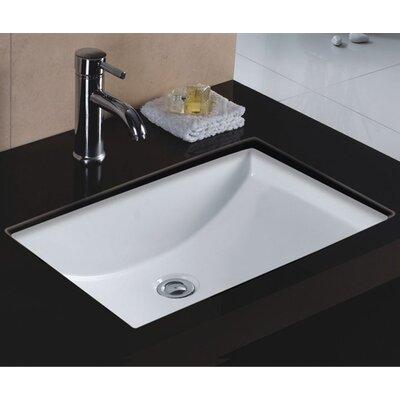 Rhythm Series Ceramic Lavatory Rectangular Undermount Bathroom Sink With Overflow