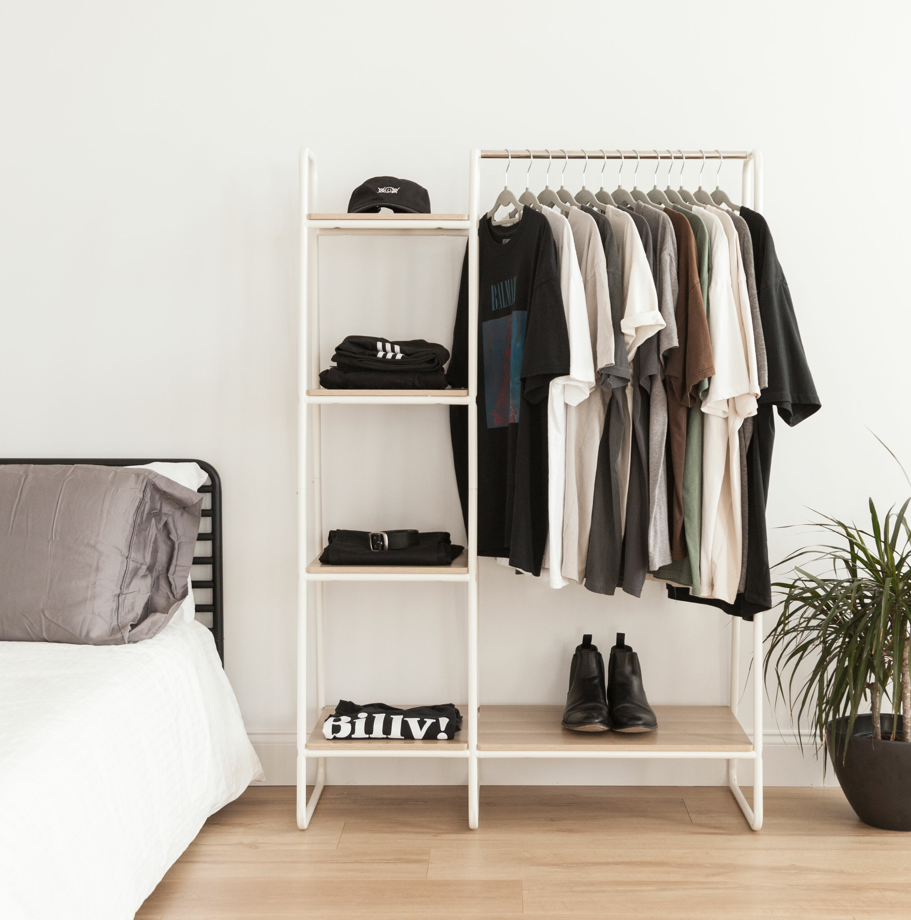 Iris 39 8 metal garment rack reviews wayfair