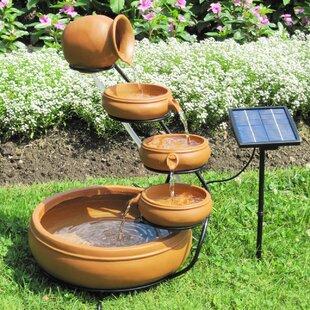 Attirant Solar Koolscapes Solar Cascading Fountain