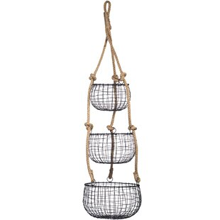 Beautiful Tier French Hanging 3 Pieces Wire Basket Set