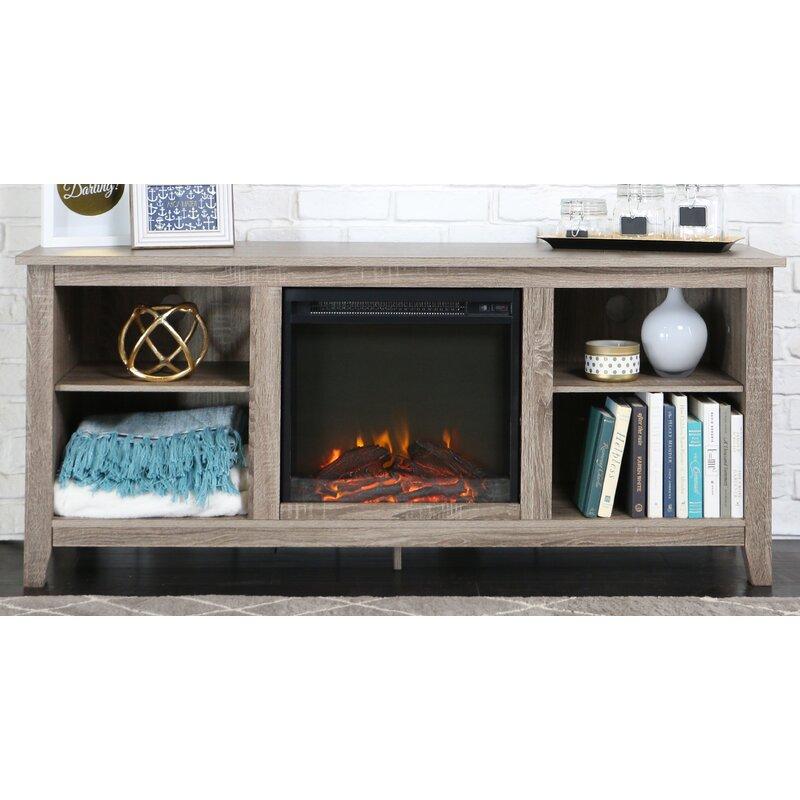 Beachcrest Home Sunbury Electric Fireplace Reviews