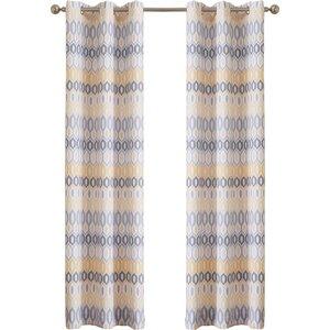 Vernau00a0 Geometric Sheer Grommet Single Curtain Panel