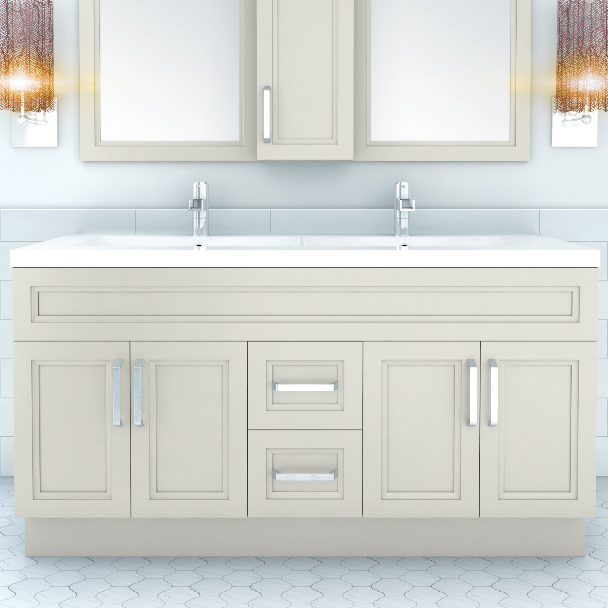 improvement double mirror wayfair home bathroom vanity set with pdx art reviews