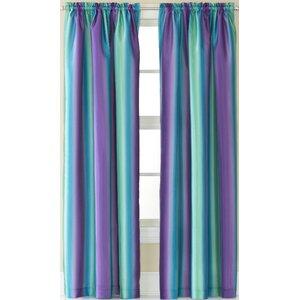 Darrius Striped Sheer Rod Pocket Single Curtain Panel