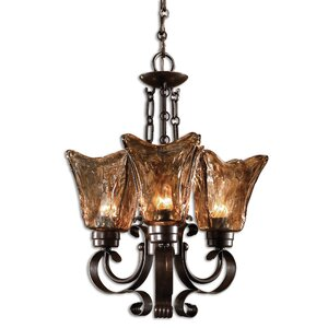 Constantine 3-Light Shaded Chandelier