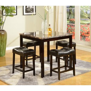 Octavia 5 Piece Counter Height Dining Set by Red..