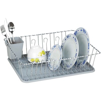 Twist Wire Large Dish Rack AmericanDream Finish: Gray