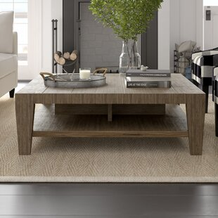 Savannah Brown Coffee Table With Tray Top