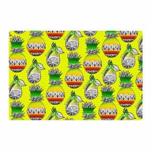 Ivan Joh Fruit Illustration Green/Yellow Area Rug