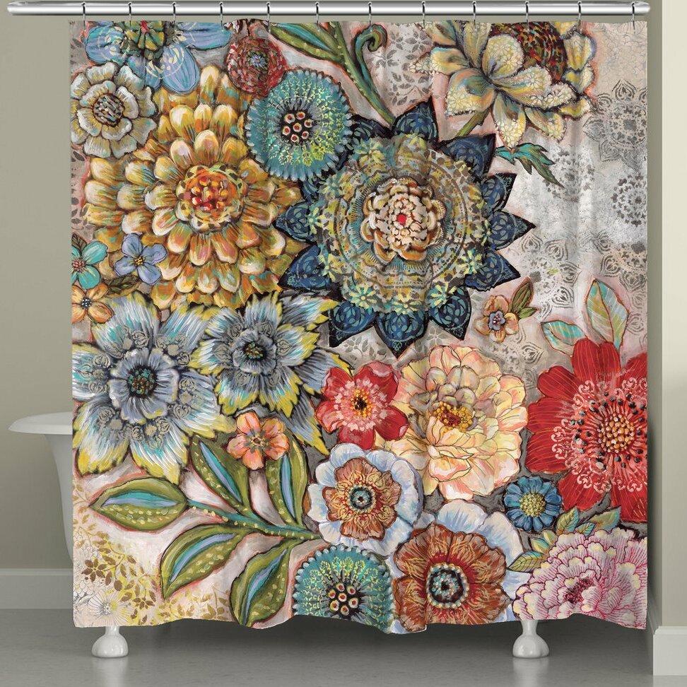 World Menagerie Aidan Boho Bouquet Single Shower Curtain Reviews