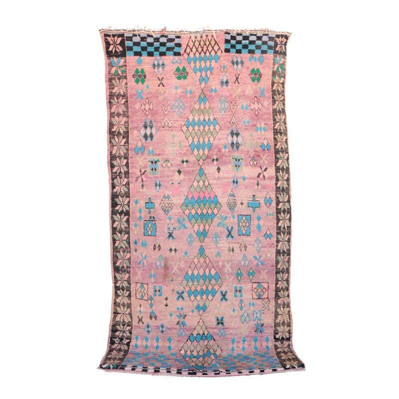 Indigo&Lavender Boujad Vintage Moroccan Hand Woven Wool