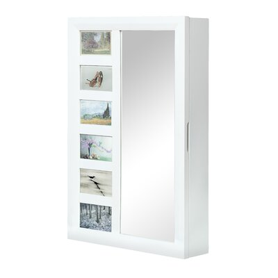 Rebrilliant Wall Mounted Jewelry Armoire with Mirror Reviews Wayfair