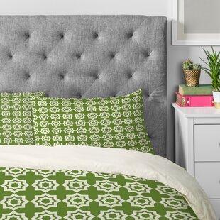 20 by 20 Kess InHouse EBI Emporium Efflorescence Red Green Throw Pillow Lime Crimson