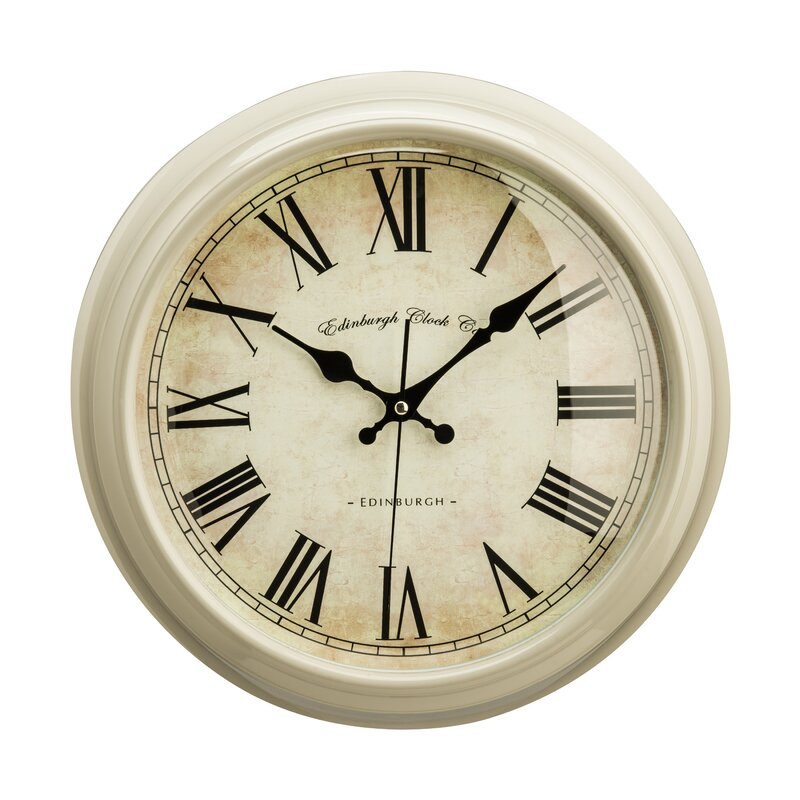 Lily Manor Baume 36cm Round Wood Wall Clock Reviews Wayfaircouk