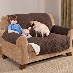 Home Solutions Box Cushion Loveseat Slipcover