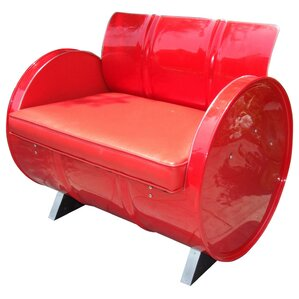 Very Red Armchair by Drum Works Furniture