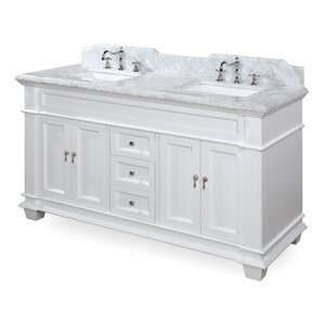 Elizabeth 60  Double Bathroom Vanity Set Inch Vanities You ll Love Wayfair
