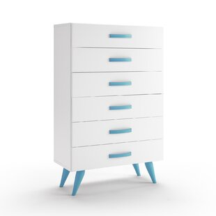 Pamplona 6 Drawer Chest of Drawers by Just Kids