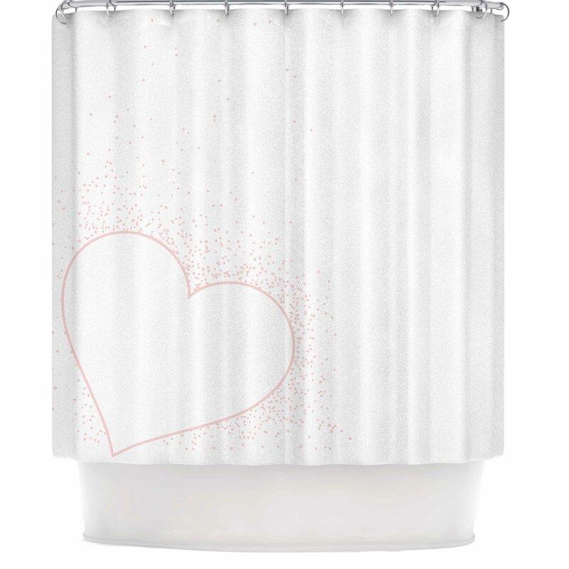 Nl Designs Confetti Heart Shower Curtain