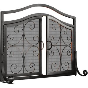 Small Crest Fireplace Screen with DoorsFireplace Screens You ll Love   Wayfair. Metal Fireplace Screens. Home Design Ideas
