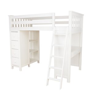 All-in-One Twin Loft Bed with Drawers by Jackpot!