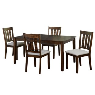 Rhem 5 Piece Solid Wood Dining Set