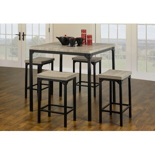 Seneca Wood Look 5 Piece Dining Set