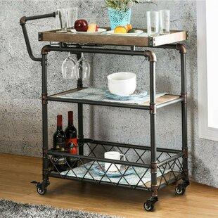 Serina Industrial Bar Cart