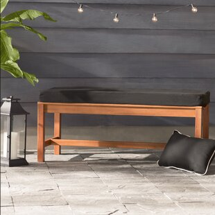 black sunbrella indooroutdoor bench cushion - Patio Bench Cushions