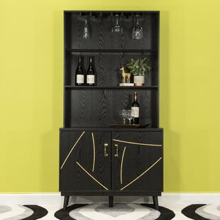 Trombley 2 Door Accent Bar with Wine Storage