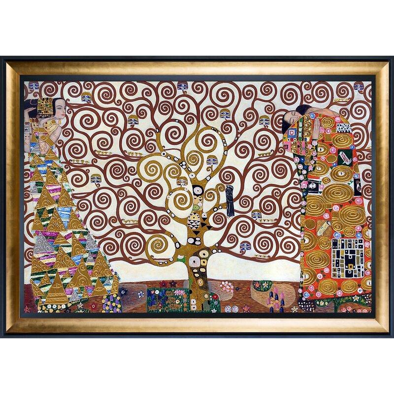 the tree of life stoclet frieze metallic embellished by gustav klimt framed