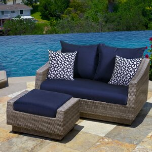 Alfonso Loveseat and Ottoman with Cushions