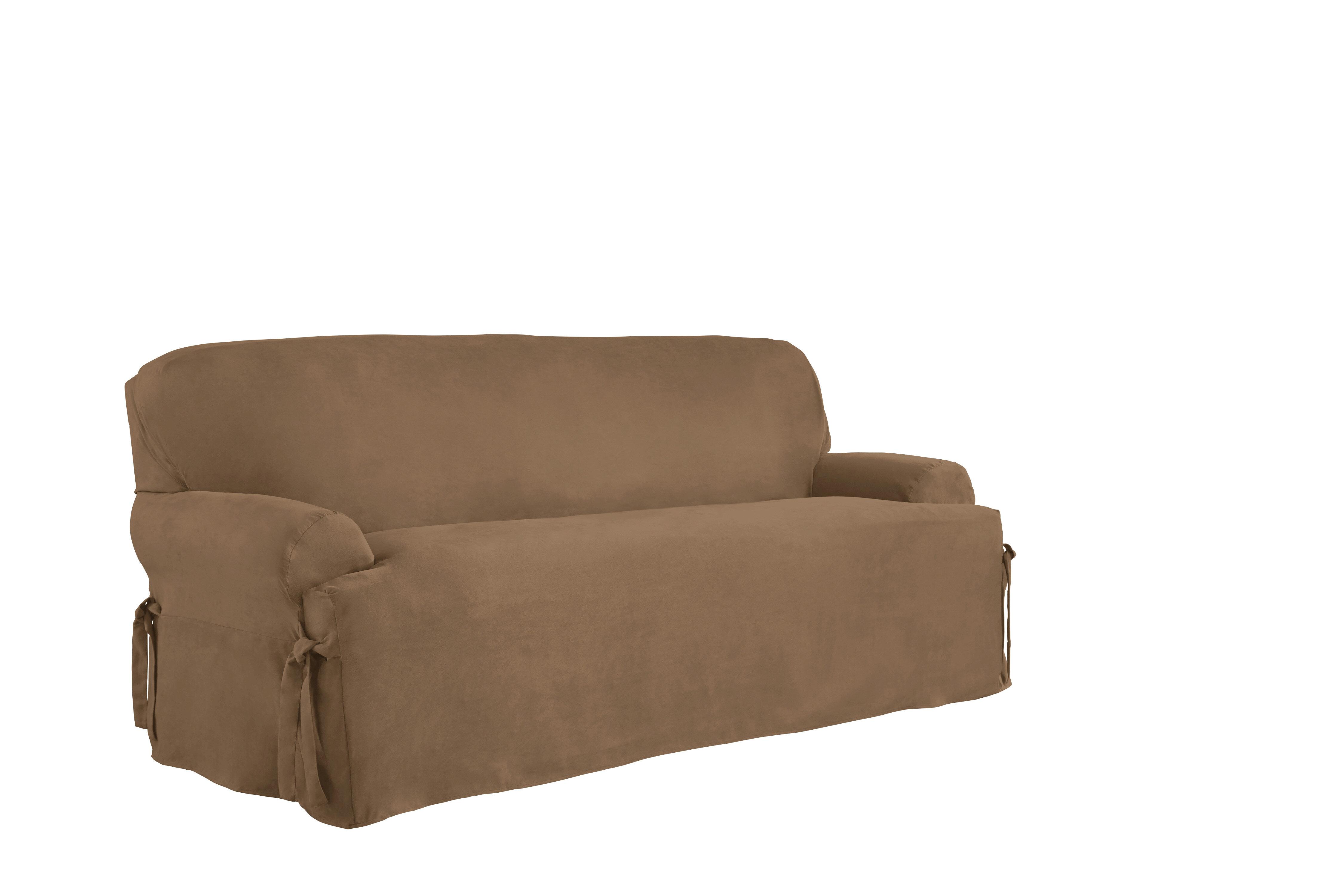 Serta T Cushion Sofa Slipcover Reviews Wayfair