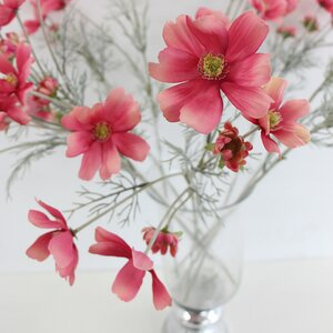 Silk Cosmos Flower in Vase