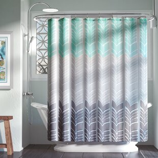 Bamboo Print Shower Curtain | Wayfair